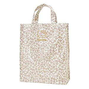 [Hello Kitty]Laminated Tote M floret