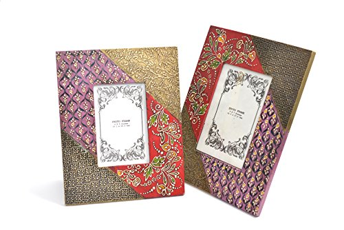 Kitschdii Contemporary Madna Art Wooden Photo Frame (Multicolor) (Set Of 2) - B00MN5YWWC