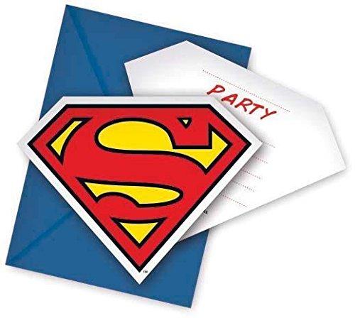 Superman invitaciones a fiesta, 6unidades)