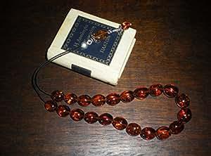 Solid 86.95ct Genuine Natural Cognac Baltic Amber Greek Komboloi Prayer Beads
