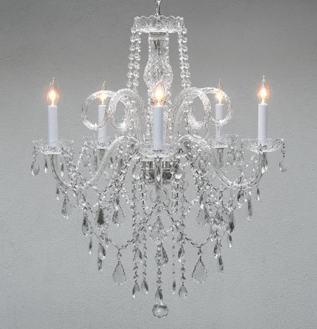 cheap authentic all crystal chandelier chandeliers h30 x w24