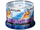 Philips 16x DVD-R Media - 4.7GB - 50 Pack