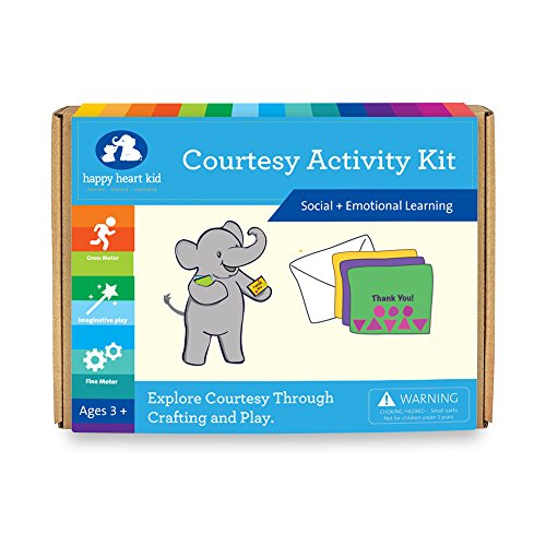 Courtesy Activity Kit - Social Skill Board Game and Craft Activities for Children Ages 4 to 8 years - Occupational Therapy to Nurture Social Skills for Kids With Special Needs