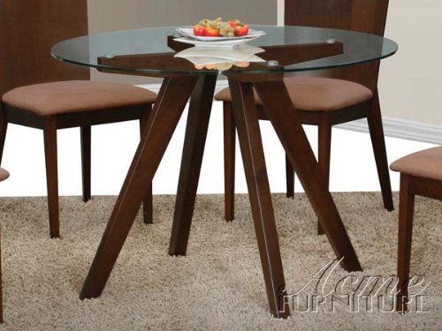Cheap Clear Glass Top Dining Table by Acme (B004ZR49OC)
