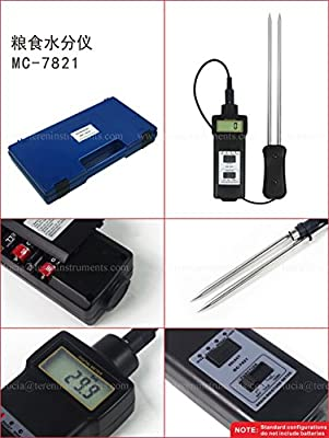 TR-MC-7821 Digital 2 in 1 Grain Corn Rice Coffee Coco Beans Moisture Meter Temperature Tester Maize Water Content Analyzer 8 ~ 20% for Feedstuff Poder Paddy