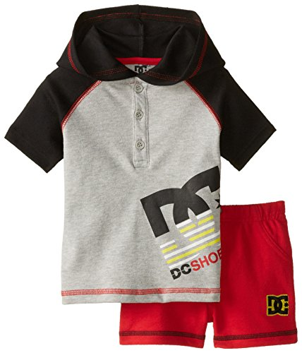 DC Shoes Co Baby-Boys Newborn Hoody with Red Shorts