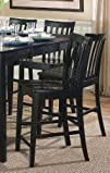 Coaster Contemporary Counter Height Stools Black Wooden