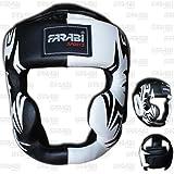Farabi Sports Boxing HeadGuard, Helmet Head prototector Gear Real Leather