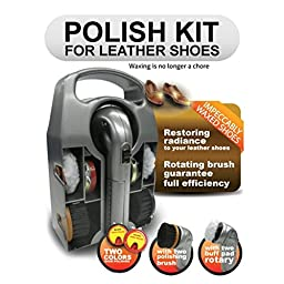 Emel RKDL-806 Leather Shoe Polish Kit W/Dual Speed Shoe Polisher & Accessories Home & Garden Improvement
