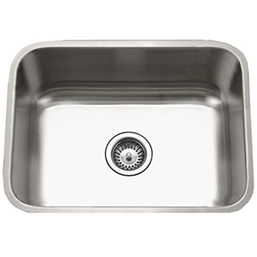 Houzer PNG-2300 Eston Series Undermount Single Bowl Kitchen Sink T-304 Stainless Steel