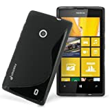 Fosmon DURA S Series Flexible SLIM-Fit TPU Case for Nokia Lumia 520 (Black)
