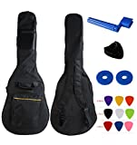 "YMC 41 Inch Waterproof Dual Adjustable Shoulder Strap Acoustic Guitar Gig Bag 5mm Padding Backpack with Accessories(Picks, Pick holder, Strap Lock, String Winder) --For 40"" & 41-Inch Acoustic Guitar"