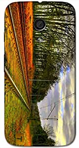 Timpax protective Armor Hard Bumper Back Case Cover. Multicolor printed on 3 Dimensional case with latest & finest graphic design art. Compatible with Motorola Moto -G-2 (2nd Gen )Design No : TDZ-25082
