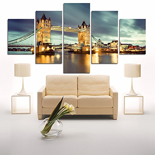 5 Panels Painting Canvas Wall Art Picture Coloring By Numbers Modular Pictures For Living Room Canvas Print Abstract Painting (Modular Arts Wall Panels compare prices)
