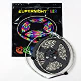 SUPERNIGHT (TM) 16.4ft(5M) 5050 300LEDs/pc RGB multi-color Waterproof(IP-65) SMD Flexible Strip light