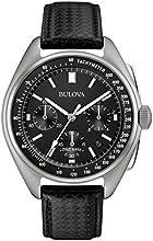 Comprar Bulova luna-Reloj de cuarzo para hombre con cronógrafo para hombre (mecanismo de cuarzo, esfera negra