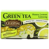 Celestial Seasonings Green Tea, Honey Lemon Ginseng, 20-Count Tea Bags (Pack of 6) ~ Celestial Seasonings