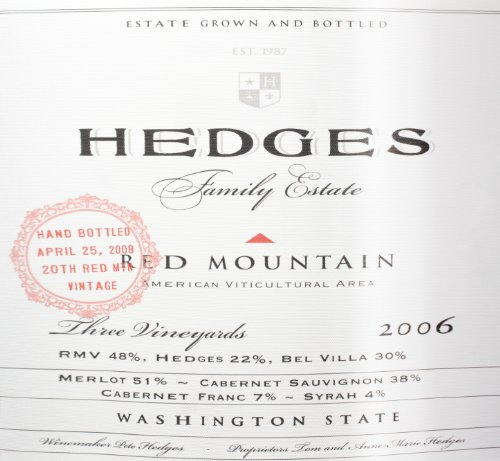 2006 Hedges Family Estate Red Mountain Red Blend Limited Edition Large Format 9 L