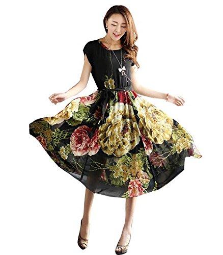 CHAKUDEE women's western wear skirt type dresses (colour-black