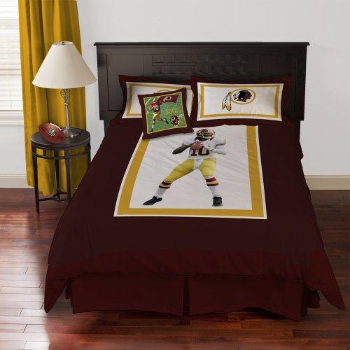 Nfl Biggshots Bedding - Washington Redskins Robert Griffin Iii Comforter Set And Toss Pillow, Queen front-927495