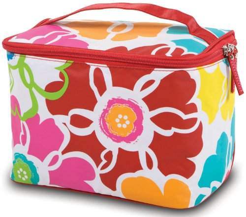 Bright Bloom Cosmetic Train Case