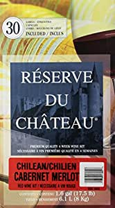 Reserve Du Chateau 4 Week Wine Kit, Chilean Cabernet Merlot, 17.5-Pound Box