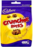 Cadbury Crunchie Rocks Sharing Bag 130 g (Pack of 5)