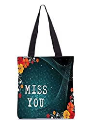 Snoogg Abstract Floral Vector With Place For The Text Design Designer Poly Canvas Tote Bag - B012FUDTOQ