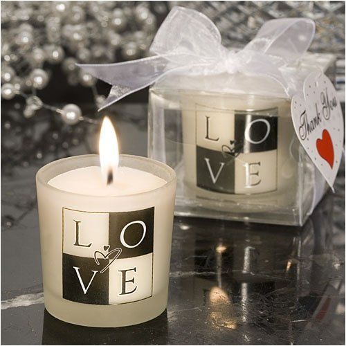 Candle LOVE Design (30 per order) Wedding Favors