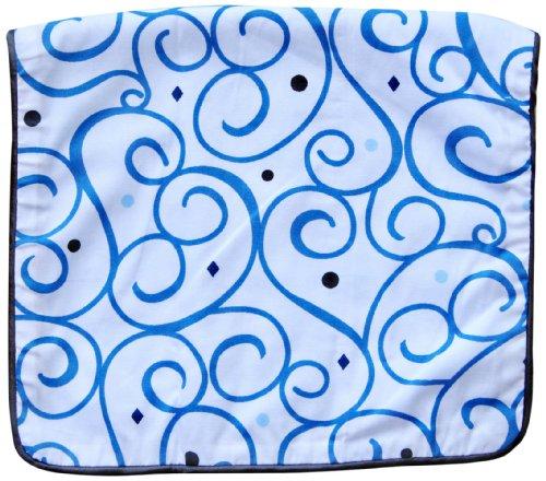 Caden Lane Luxe Collection Burp Set, Dark Blue Swirl, 2-Count