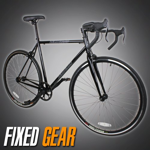 NEW 54cm Track Fixed Gear Bike Fixie Single Speed Road Bicycle - Black Color