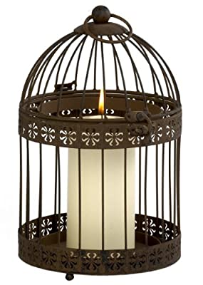 Ivyline Ffrb33 Firefly Bronze Rustic Birdcage Candle Holder 33 14 Cm from Ivyline