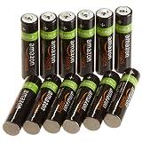 Baterías Recargables AmazonBasics AAA,paquete de 12