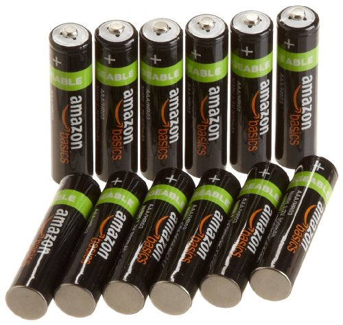 AmazonBasics AAA Rechargeable Batteries (12-Pack)