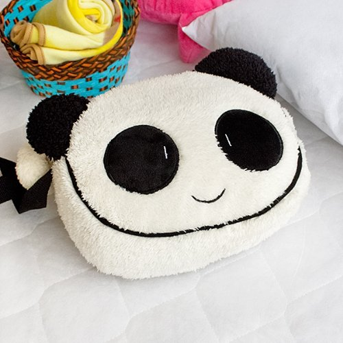 [Lovely Panda] Fleece Throw Blanket In A Shoulder Bag / Travel Pillow Blanket (27.2 by 59.4 inches)