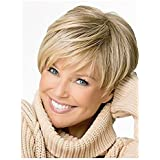 Fashion Short Fluffy Blond Wig with Delicate Women Hair Wig Lady Full Cosplay Wig