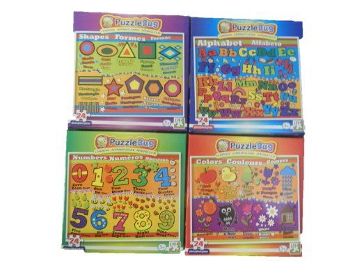 Puzzlebug Learning Puzzles (Set of 4)
