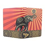 JMM - Elephant and Bird Pattern Obey Flower Design PU Leather Protection Cover Case for Amazon Kindle Paperwhite (Both 2012 and 2013 versions with 6 Display and Built-in Light) Support Smart Cover Function + Credit Card Slot