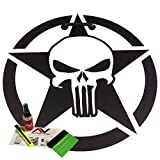 Hood decal Punisher Star oscar mike 18