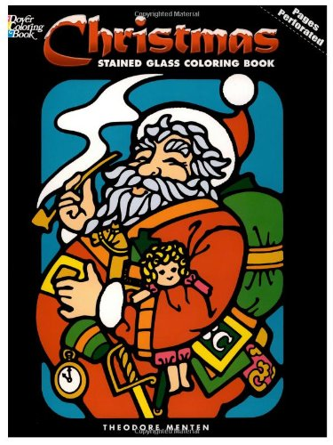 Christmas Stained Glass Coloring Book (Holiday Stained Glass Coloring Book)