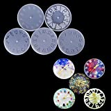 SEPTEMBER DIY Epoxy Clear Clock Silicone Resin Liquid Mold DIY Jewelry Making Tool Hand Craft Pendant Casting Beads Crystal Molds (XQ-10048) (Color: XQ-10048)