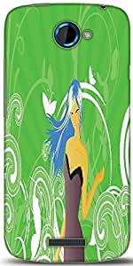 Snoogg Abstract Illustration Designer Protective Back Case Cover For HTC One S
