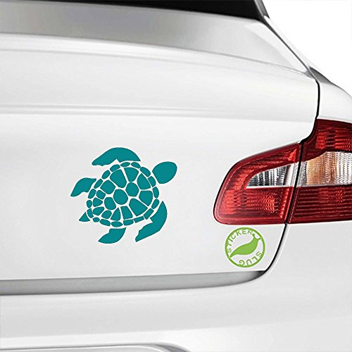 Sea Turtle Decal Sticker (turquoise, 5 inch) (Turtle Car Decal compare prices)