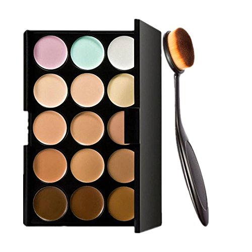 Start 15 Colors Concealer Eye shadow palette kit &Makeup Toothbrush Curve Brush (Wet Eyeshadow Make Up compare prices)