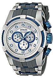 Invicta Men's 14410 Bolt Chronograph Silver Dial Grey Polyurethane Watch