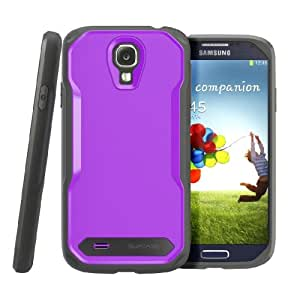 SUPCASE Unicorn Beetle Series Premium Hybrid Protective Case for Samsung Galaxy S4 i9500 Smartphone (Purple/Black) - Multiple Color Options