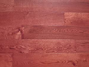 5 x 5/8 3-Layer (All Solid) Engineered Hardwood Oak Merlot Flooring (6 inch Sample)