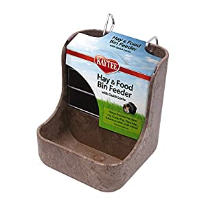 Kaytee Hay-N-Food Bin Feeder with Quick Locks, Colors Vary