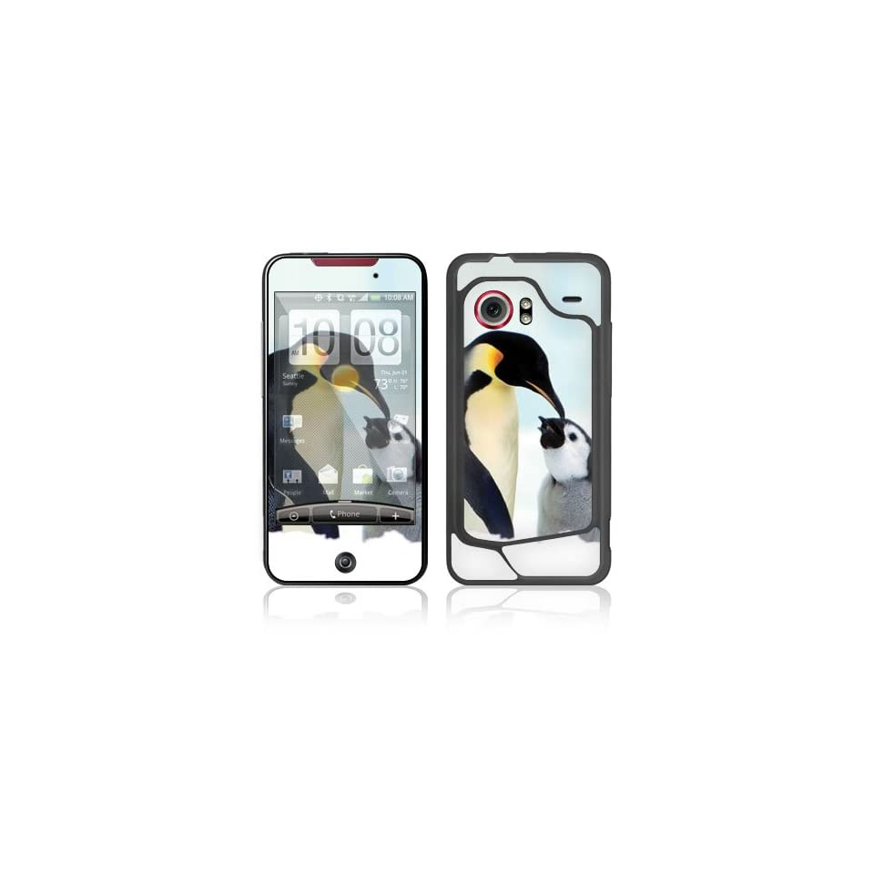 Happy Penguin Protective Skin Cover Decal Sticker for HTC Droid Incredible Cell Phone