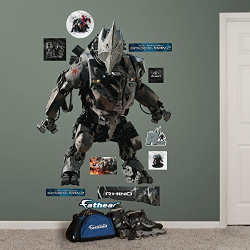 Fathead Rhino-The Amazing Spider-Man 2 Real Big Wall Decal by Fathead [並行輸入品]